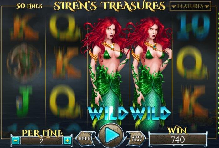 Sirens Treasures slot game