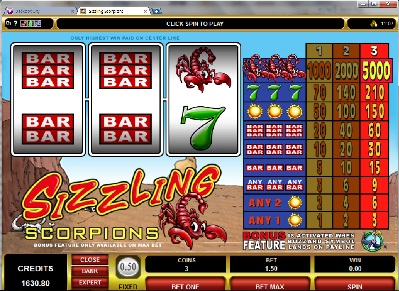 Sizzling Scorpions Slot