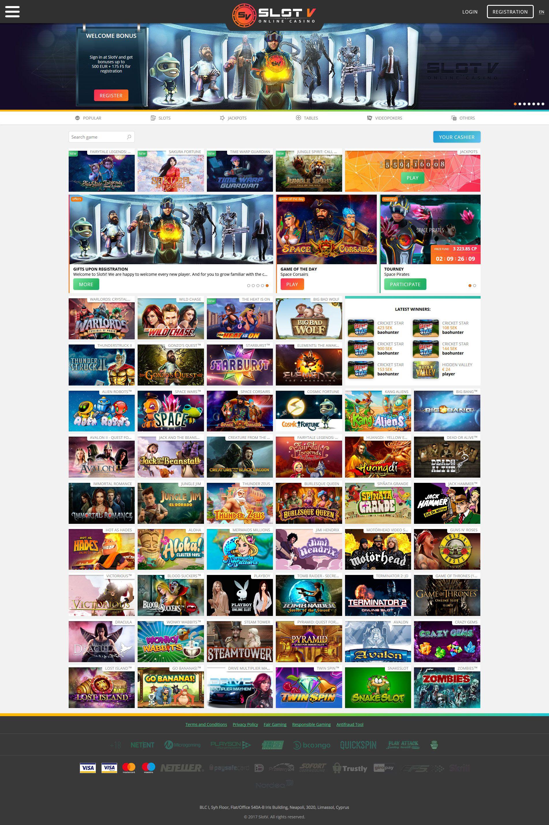 casino slot v официальный сайт 2018