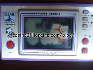 Snoopy Tennis Nintendo Game & Watch