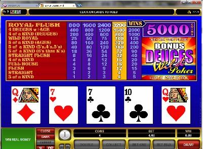 Bonus Deuces Wild Power Poker