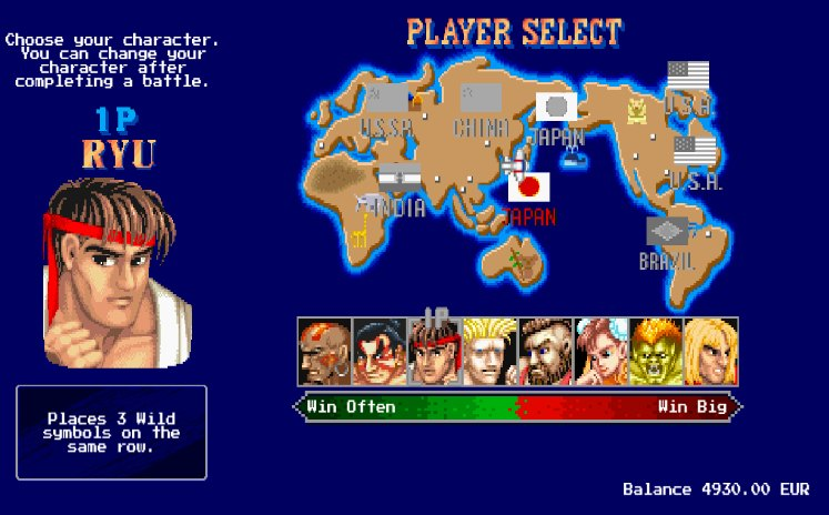 Street Fighter II: The World Warrior slot review