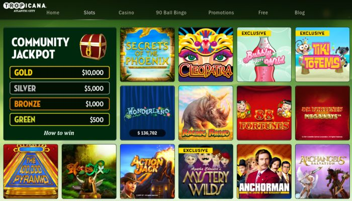 Tropicana Online Casino Review Slots Games