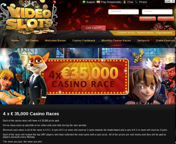 video slot online casino