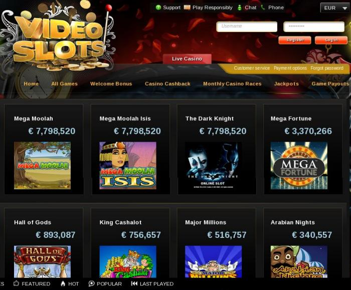 casino online test video slots
