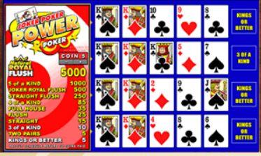 Videopoker Joker Poker Power Poker