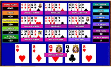 Videopoker Aces Faces 10 Play