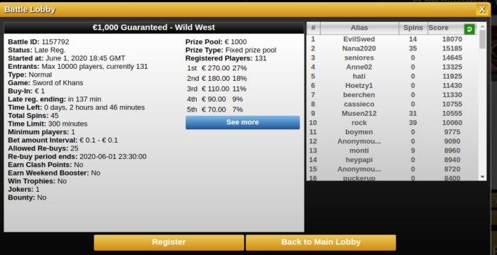 Videoslots Battle of Slots