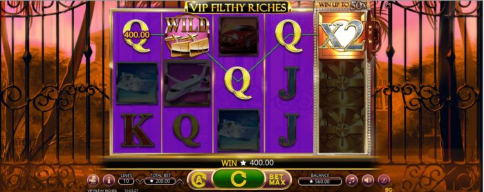 VIP Filthy Riches slot game