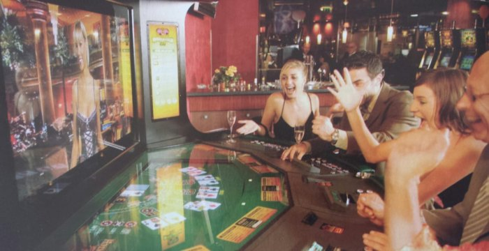 Virtual Dealer Blackjack machine game Las Vegas