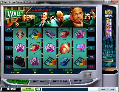 Wall Street Fever Five Line Slot