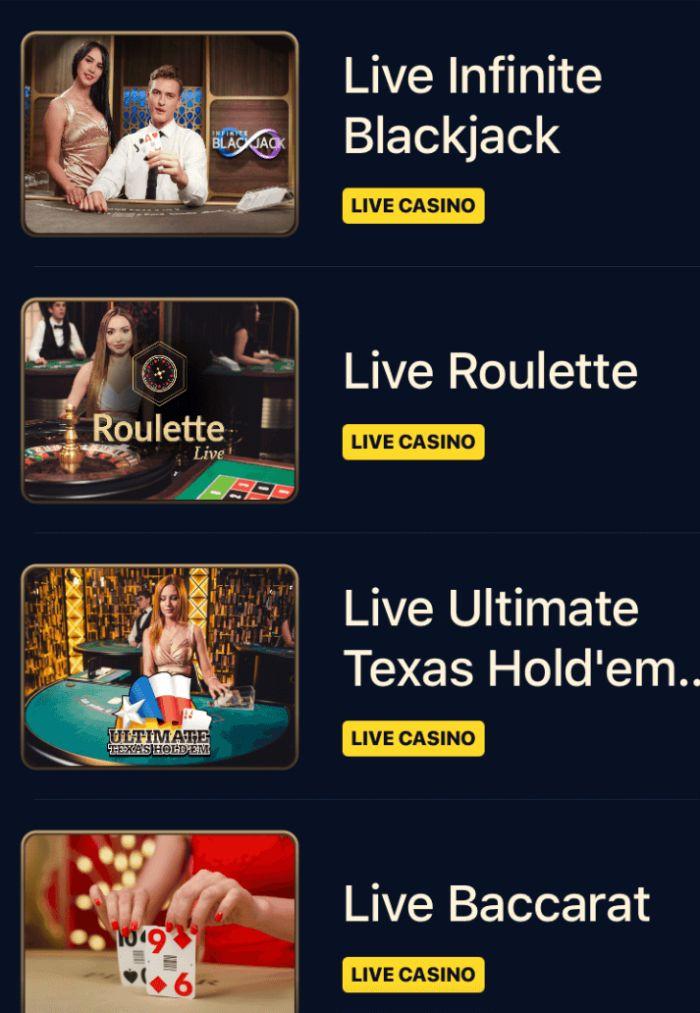 Wynbet Review Live Casino Games