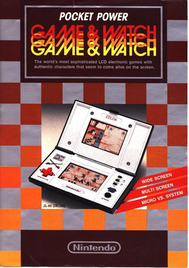 Nintendo Game & Watch Advertisement Zelda
