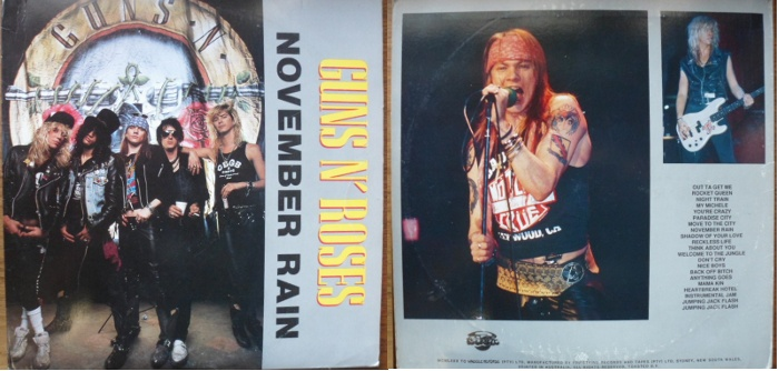Guns n Roses bootleg 2LP November Rain