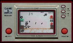 Nintendo Game Watch Chef