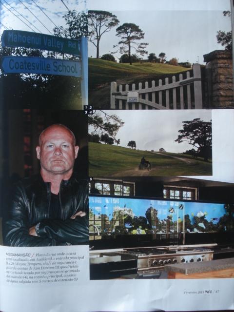 Kim Dotcom and his MEGA on Brazilian magazine