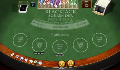 Play Blackjack Surrender Table Game game Playtech