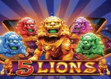 Play 5 Lions Slots game PragmaticPlay