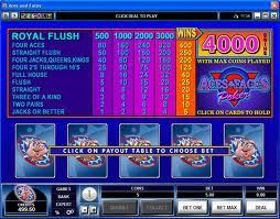 Aces & Faces Video Poker Video Poker game Aces & Faces Video Poker