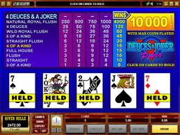 Deuces & Joker Video Poker Video Poker game Deuces & Joker Video Poker