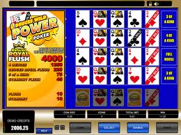 Deuces Wild Power Poker Video Poker Video Poker game Deuces Wild Power Poker Video Poker