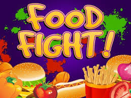 Play Food Fight Slots game RTG