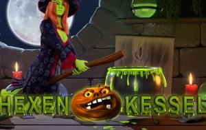 Play Hexen Kessel slot game Merkur