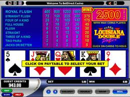 Louisiana Double Video Poker Video Poker game Louisiana Double Video Poker