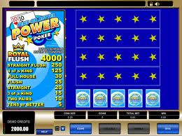 Tens or Better Power Poker Video Poker