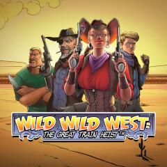 Wild Wild West The Great Train Heist Slots game NetEnt