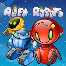 Play Alien Robots Slots game Casumo