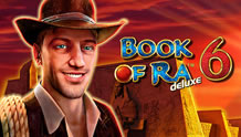 Play Book of Ra Deluxe 6 Slots game Novomatic