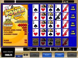 Deuces Wild Power Poker Video Poker