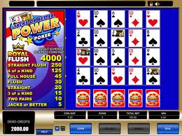 Jacks or Better Power Poker Video Poker