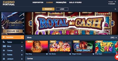 Casino Portugal - tela do site