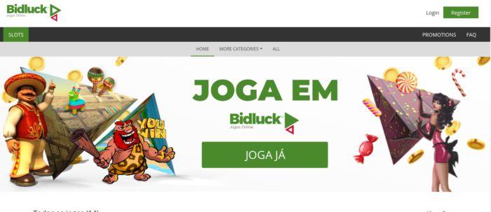 Site do casino Bidluck Portugal