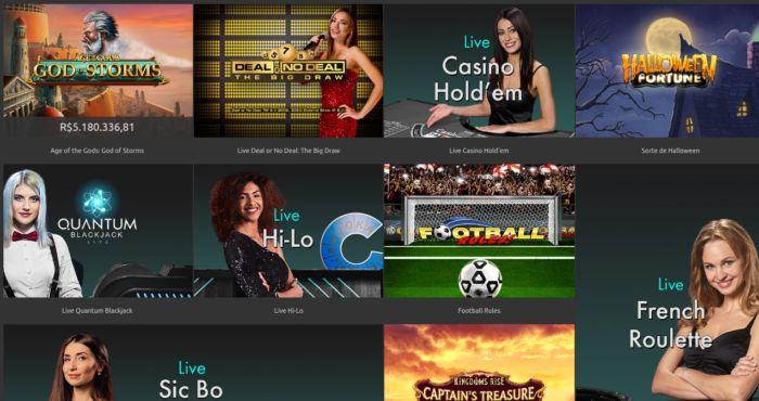 Bet365 - variedade de jogos de casino