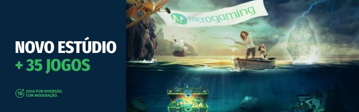 Jogos de slots da Microgaming no casino Solverde online