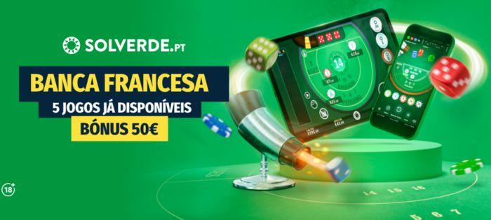 Jogar Banca Francesa no Casino Solverde online
