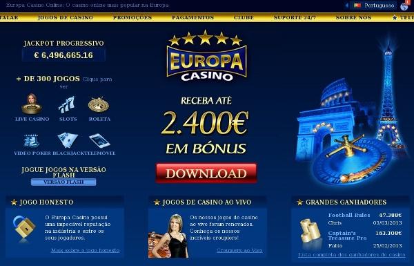 Europa Casino - casino em portugues