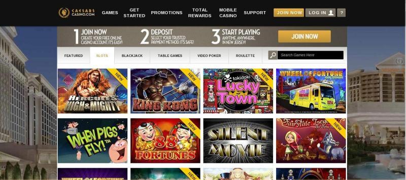 Caesars online casino - New Jersey - USA