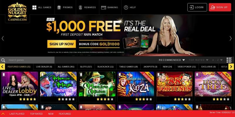 Golden Nugget online casino - New Jersey - USA